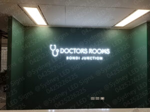 sydney_led_signs_illuminated_letter_sign_for_bondi_junction_doctor